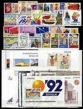 SELLOS ESPAÑA 1992 COMPLETO + DUPLICADOS (4.391PTS. - 26,39€ VALOR FACIAL). LEER