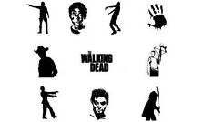 Walking Dead Zombies Nail Decals Set of 20 - Assorted