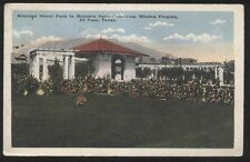 Postcard EL PASO Texas/TX  Montana Street Park at Houston Square view 1910's