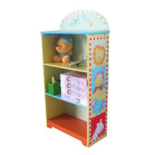 Kids Boys Hand Paint Wooden Animal Bookcase Bookshelf Storage Cabinet Organizer