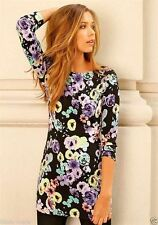 3/4 Arm Mini-Damenkleider im Boho -/Hippie-Stil