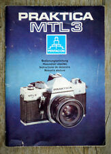 PENTACON Kamera Bedienungsanleitung PRAKTICA MTL 3 User Manual Anleitung (X5030