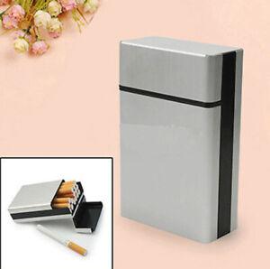 Metal Cigarette Case Aluminum Pocket Box Tobacco Holder Storage Container