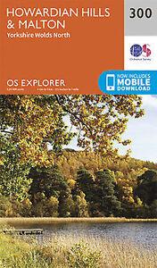 Howardian Hills and Malton Explorer Map Ordnance Survey 300