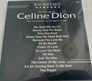 CELINE DION KARAOKE CDG BACKSTAGE MUSIC SONGS 9317 CD MUSIC SONGS CD+G