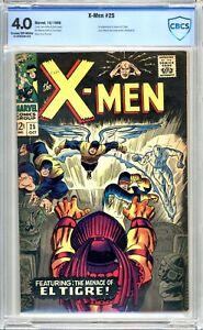 X-Men #25 - CBCS Graded 4.5 (VG+) 1966 - First App El Tigre - Silver Age