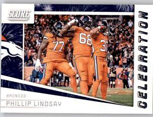 2019 Score Celebration Phillip Lindsay Insert PWE NFL Broncos #1