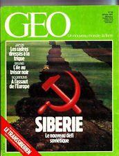 GEO magazine 59 / janvier 1984