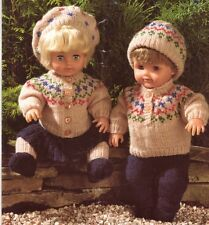 "FAIR ISLE SET for 38cm/15""- 8ply or D.K. - COPY doll knitting pattern"