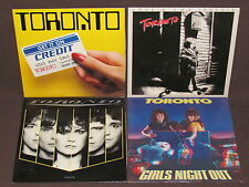 TORONTO 4 LP RECORD ALBUMS LOT COLLECTION Head On/Get It Credit/Girls Night Out+