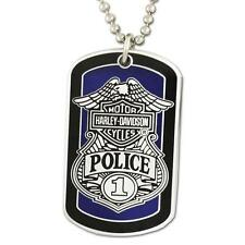 "Harley Davidson Police ""To Protect And Serve""  2"" WITH CHAIN Dog Tag"