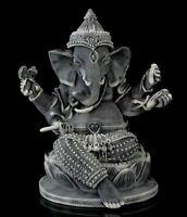 """Ganesha on Lotus Marble Stone Statue Figurine Hindu Elephant Lord of Success 4"""""""