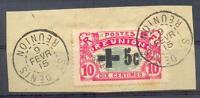 REUNION 1915 Yv 80 gest TADELLOS BRIEFSTÜCK 130€(D3984