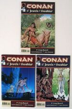Complete CONAN Jewels of GWAHLUR Mini Series! #1-3 P. Craig RUSSELL (2005)