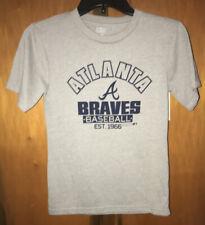 New MLB Atlanta Braves S/S Gray Tshirt. Boys Sz Small (8)