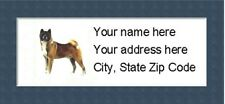 """Akita Return Address Labels  - Personalized """"BUY 3 GET ONE FREE"""""""