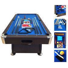 7' Feet Billiard Pool Table Snooker mod. Blue Sea Full Set Accessories Game