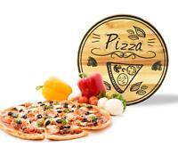 Pizzateller mit Pizza-Motiv ø30cm Holzteller Drehplatte Käseteller Drehteller
