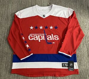 NWT Fanatics Washington Capitals NHL Red Alternate Jersey 4XL