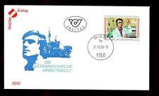 Austria 1988 mondiale nel lavoro FDC #C 2943