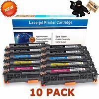 10 Pack CF380A Color Toner Set for HP 312A Laserjet Pro MFP M476dn M476dw M476nw