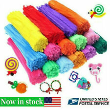 100PCS DIY Plush Cleaners Kids Educational Toy Chenille Children Pipe Stems