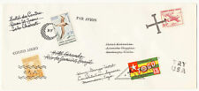 Bogus Around The World Airmail Cover Stamp Dealer Advertising Promotion
