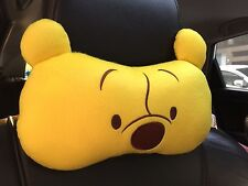 Winnie the Pooh Car Accessory : 1 pc Neck Rest Cushion Yellow Head Pillow #10