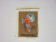POSTAGE STAMP x1 : SINGAPORE - 15cents - 1971