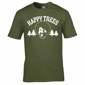 """INSPIRED BY BOB ROSS """"HAPPY TREES"""" T SHIRT"""