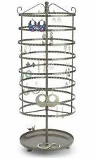 """For Sale Earring Rotating Display Rack - 432 Holes 24"""" Tall Raw Steel Finish"""