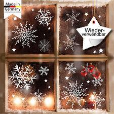 Flocons de Neige Autocollant pour Fenêtre Noël 24 Pièces Filigrane en Allemand