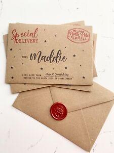 Personalised Christmas Money Envelope, Christmas Money Wallet, Wax Seal