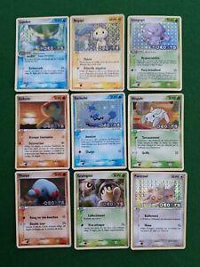RARE lot 9 cartes Pokémon bloc ex  Deoxys différentes RARE  holo revers 🛎️