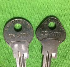 Original 1935,37-38 DeSoto Key Blanks 1-Ignition/Dr.,1-Trunk NOS Yale