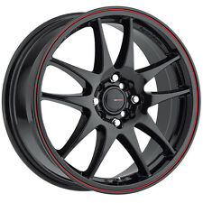 4-NEW Big Bang Sport BSP53 16x7 5x100/5x114.3 +40mm Black/Red Wheels Rims