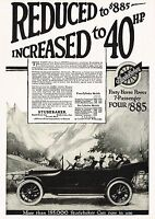 1915 Antique Vintage Studebaker Touring Motor Car Automobile Art Print Ad b