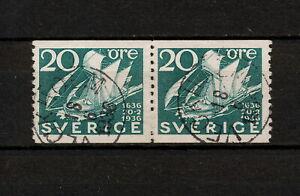 ✔️ (SW 065) Sweden 1936 Veckholm cancel Mi 230 Sc 254 Sailing ship, Sailboat