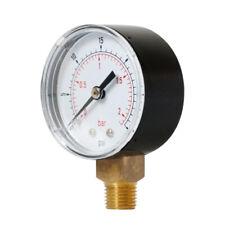 Radial Pressure Gauge for Air Oil Water TS-Y508 0-30psi 0-2bar 1/8BSPT Kit