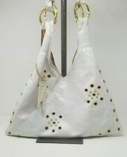 Marciano By Guess Leather White Gold Eyelet Large Shoulder Hobo Bag