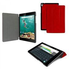 Slim Cover für HTC Google Nexus 9 Schutz Hülle Tasche Tablet Case Kunstleder rot