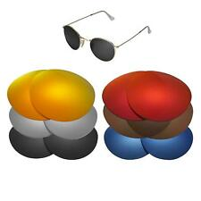 Walleva Lenses for Ray Ban Round Metal RB3447 50mm Sunglasses-Multiple Options