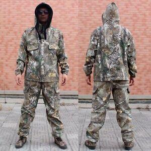 Ghillie Suit 3D Bionic Maple Leaf Camo Clothes Hunting Jacket Pants Waterproof