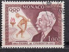 TIMBRE MONACO OBL N° 635  JEUX OLYMPIQUES  BARON PIERRE DE COUBERTIN