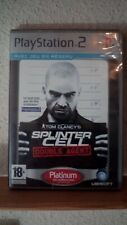 Splinter Cell Double Agent,edition Platinum PS2,neuf sous blister,vf
