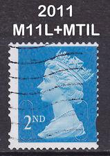 2011 Machin 2nd Class SG U3013 M11L+MTIL Photo DLR CB Die Cut Fault Fine Used