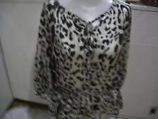 Women's Black & White Print Blouse By Violet & Claire Sz XL   Nwots Clothing