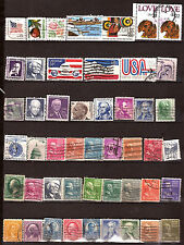 ETATS-UNIS  120 timbres oblit.tous différents, personnages et sujets divers 221D