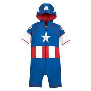 NWT Disney Store Captain America Rash Guard Wetsuit Swimsuit many sizes