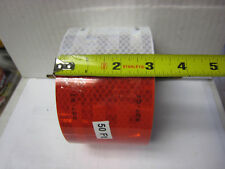 "3M  BRAND WHITE RED Reflective Diamond Grade Conspicuity Tape 3"" x  50 feet"